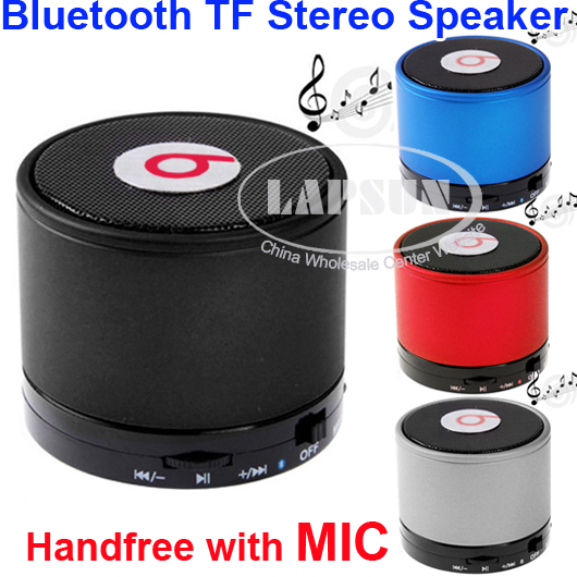 Metal HiFi BeatBox Bluetooth BT TF MP3 Player Phone Handfree Mic Stereo Speaker