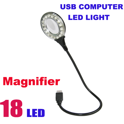 18 LED USB Portable Lamp With Magnifier
