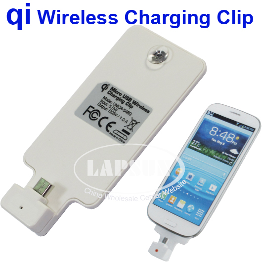 Qi Wireless Power Charger Charging Micro Usb Clip F