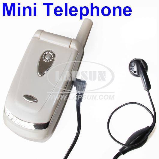 Mini Corded Land Line Flip Phone Speaker MIC Microphone w