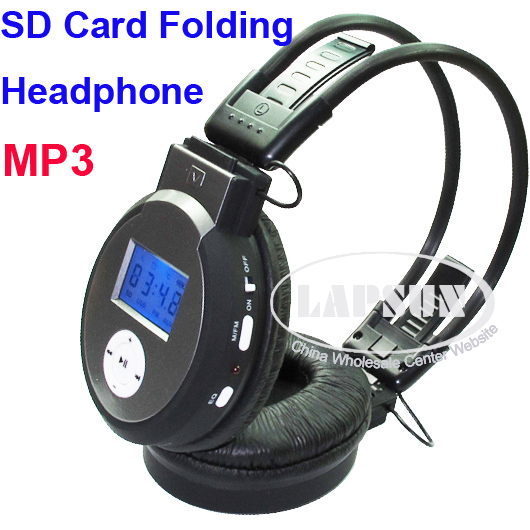 SD Card Slot Wireless Sport Headphones Headset MP3 Player Earphone FM Line In