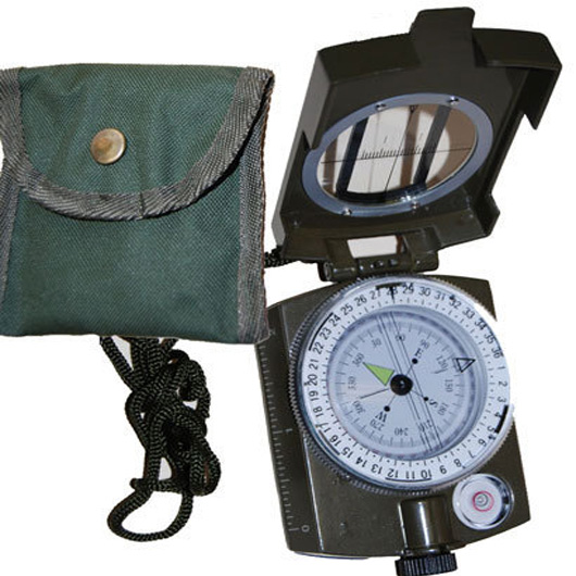 Rugged Military Prismatic Compass Canvas Belt Pouch