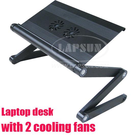 folding laptop bed table desk stand cooling fan cooler ebay. Black Bedroom Furniture Sets. Home Design Ideas
