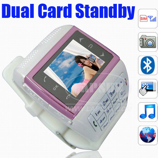 Unlocked Mobile Watch Phone Camare DVR MP4 VE77