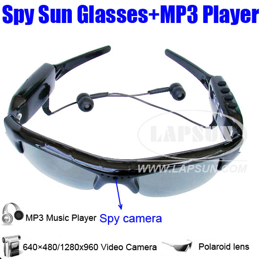 SunGlasses DVR Hidden Camera Audio Video Recorder + MP3