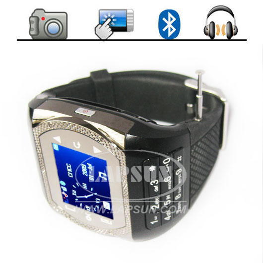 "Unlocked Wrist Watch Cell Phone Mobile 1.4"" Wide Touch Screen"