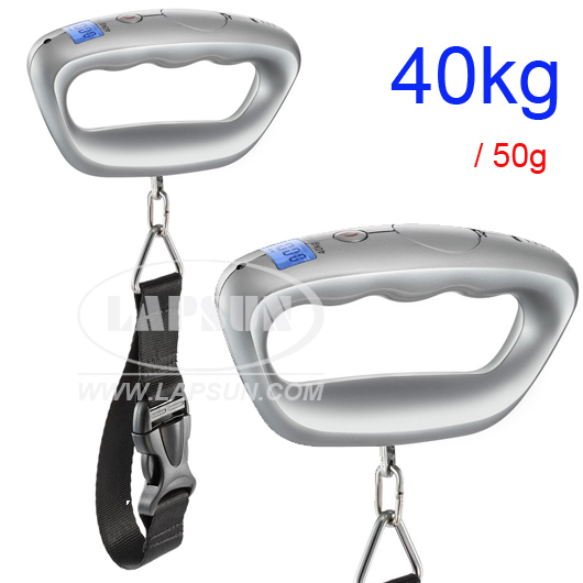 40kg 50g Digital Travel Hanging Suitcase Luggage Scale