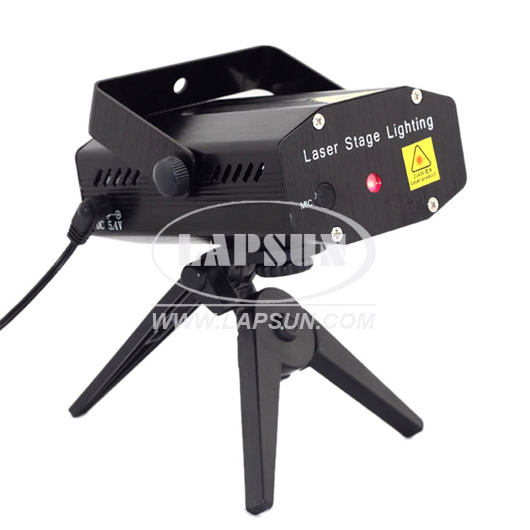 Mini Red Green Holographic Star Stage DJ Laser Light Projector Disco