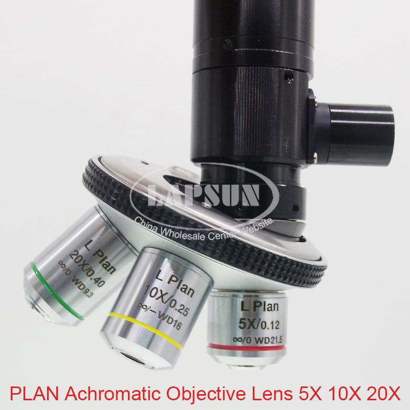 Zoom C Mount Adaptateur num/érique Microscope Industriel Objectif doculaire 0,5X Oculaire Optique pour Sources de lumi/ère Froide /à Fibre Optique avec Champ de Vision 2,3 mm /à 22 mm