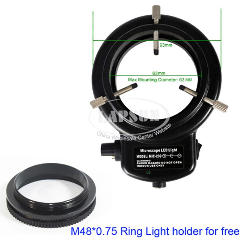 144 Led Bulb Microscope Ring Light Illuminator Adjule Bright Lamp Adapter Ls Dv746