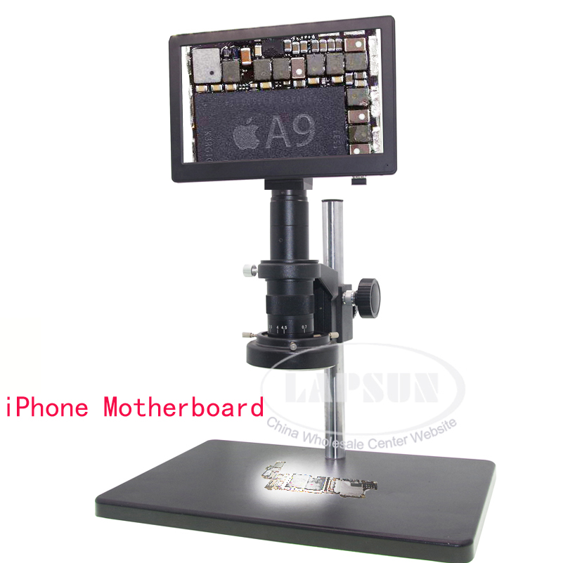 9 LCD 5X - 360X 1080P 60FPS C-mount Digital Microscope Camera for